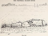 1908 cartoon (by W.C. Morris) highlighting the dangers that were associated with the sport