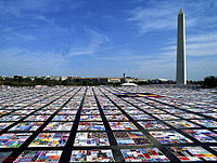 The NAMES Project AIDS Memorial Quilt in 1992