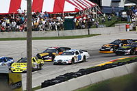 Xfinity cars at Road America in 2010