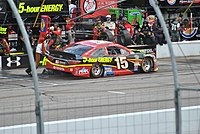 Bowyer on pit road at New Hampshire Motor Speedway in 2015