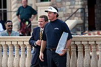 Mickelson with commissioner Tim Finchem after winning the 2007 Players Championship
