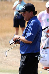 Mickelson at The Open Championship in 2006 at Hoylake