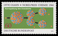 Otto Hahn stamp, Germany 1979.