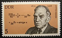 Otto Hahn on a stamp of the German Democratic Republic, 1979