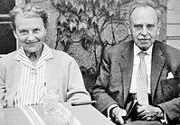 Otto Hahn with his wife Edith, 1959