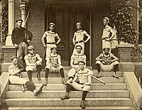 Exeter baseball team in 1881, including a student from the Chinese Educational Mission