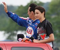 Fellows at Road America in 2012 with his youngest son