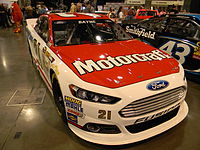 The sixth-generation NASCAR Ford Fusion, introduced for the 2013 season.