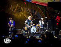 """The Stones in Cuba in March 2016. A spokesman for the band called it """"the first open air concert in Cuba by a British rock band""""."""