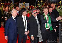 The Rolling Stones in 2008 (from left to right: Watts, Wood, Richards, Jagger) at the Berlin Film Festival's world premiere of Martin Scorsese's documentary film Shine a Light
