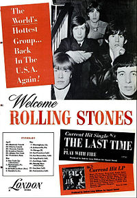 A trade ad for the 1965 Rolling Stones' North American tour