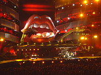 The Rolling Stones at Twickenham Stadium, London during A Bigger Bang Tour in August 2006