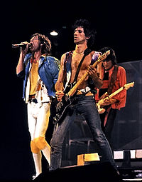 The Rolling Stones performing in December 1981