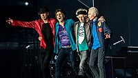 The Stones post show at the London Olympic Stadium in May 2018