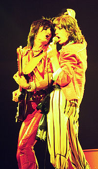 Ronnie Wood (left) and Jagger (right) in Chicago, 1975