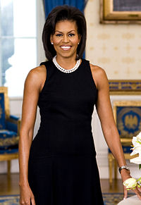 Michelle Obama was the First Lady of the United States; she and her husband, President Barack Obama, are the first African Americans to hold these positions.