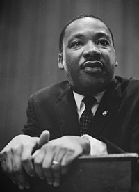 Dr. Martin Luther King Jr. remains the most prominent political leader in the American civil rights movement and perhaps the most influential African-American political figure in general.