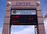 Entrance to the Student Activity Complex