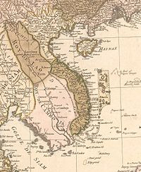 A map of Indochina in 1760