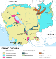 An ethnic map of Cambodia