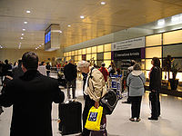 The International Arrivals Hall in Terminal E (Volpe International Terminal)