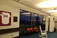 JetBlue Gate 34 is dedicated to David Ortiz, former designated hitter for the Boston Red Sox.