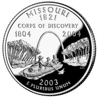 Commemorative US quarter featuring the Lewis and Clark expedition