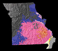 A physiographic map of Missouri