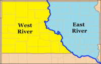 South Dakota East River and West River