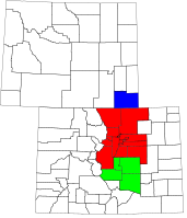 An enlargeable map of the Front Range Urban Corridor of Colorado and Wyoming