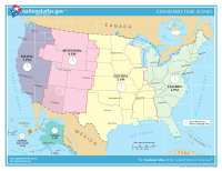 U.S. time zones. (Some U.S. time zones are not on this map.)