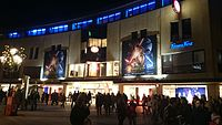 Large-scale outdoor advertising for Star Wars: The Force Awakens in the city center of Nuremberg, Germany