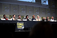 The cast of Star Wars: The Force Awakens at the 2015 San Diego Comic Con International