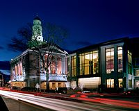 The Bushnell Center for the Performing Arts at night