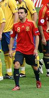 Spain midfielder Xavi was selected as the Player of the Tournament.