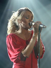 Underwood performing at the World Arena in December 2006