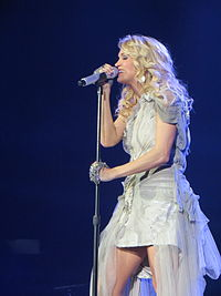 Underwood performing during the Blown Away World Tour in May 2013