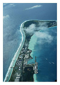 The military base of Camp Justice on Diego Garcia