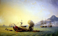 The Battle of Grand Port between French and British naval forces, 20–27 August 1810
