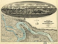 View of Vicksburg vicinity and fortifications, 1863