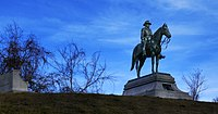The monument to U.S. Grant at the national military park in Vicksburg, MS, unveiled in 1919