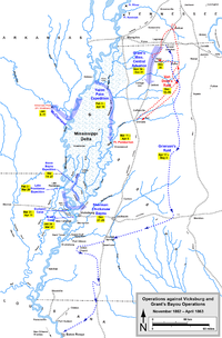Operations against Vicksburg and Grant's bayou operations