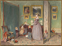 The painting depicts the family of Franz Joseph gathered in prayer, 1839
