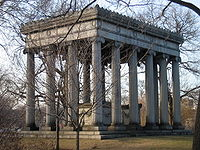 The mausoleum of Potter Palmer and Bertha Honoré Palmer in Graceland Cemetery
