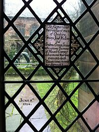 Memorial to George Mallory and Andrew Irvine in Chester Cathedral
