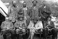 The 1921 Everest Expedition: Mallory at right on rear row, Bullock at left on rear row