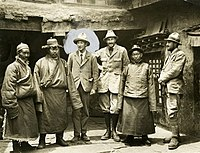 Some members of the 1924 British Mount Everest expedition; Mallory is highlighted