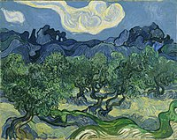{{nowrap|Vincent van Gogh}}, {{nowrap|The Olive Trees with the Alpilles }}in the Background, 1889