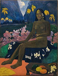 {{nowrap|Paul Gauguin}}, {{nowrap|Te aa no areois}} {{nowrap|(The Seed of the Areoi)}}, 1892
