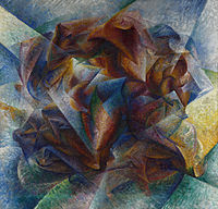 Umberto Boccioni, 1913, Dynamism of a Soccer Player, 1913, oil on canvas, 193.2 × 201 cm